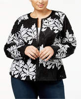 INC International Concepts Plus Size Lace Jacket, Created for Macy's
