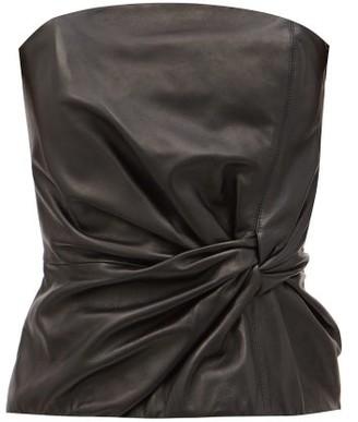 16Arlington Himawari Strapless Leather Top - Black