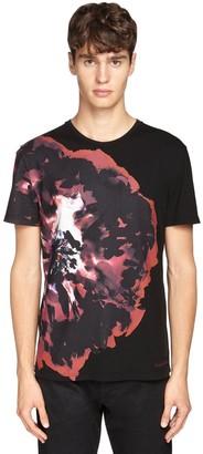 Alexander McQueen Floral Print Cotton T-Shirt