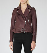 Reiss Dries Leather Biker Jacket