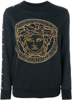 Versace Medusa studded sweater - women - Polyester/Spandex/Elastane - 38