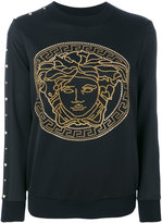 Versace Medusa studded sweater