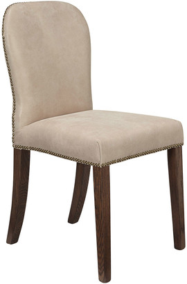 OKA Stafford Leather Dining Chair - China Clay