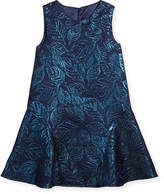 Oscar de la Renta Jacquard Sleeveless Drop-Waist Dress, Size 2-14