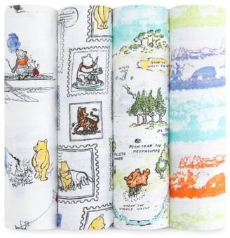 Aden Anais Aden + Anais Winnie The Pooh Swaddle Blanket (Set Of 4)
