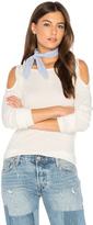 Splendid Cold Shoulder Loose Knit Top