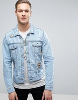 ONLY & SONS Denim Jacket with Patches