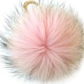 Valpeak 6'' Fluffy Raccoon Fur Ball Pom Pom Keychain Womens Bag Charms Key Chain