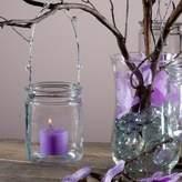 Eastland Hanging Votive Holder Glass / Charming Metal Handle Adorned with Gems (Set of 48)