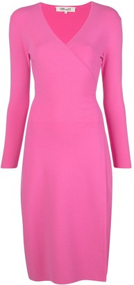 Diane von Furstenberg Cassidy knit D-ring wrap dress
