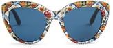 Dolce & Gabbana Majolica-print cat-eye sunglasses