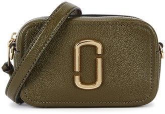 Marc Jacobs The Softshot 17 Green Leather Cross-body Bag
