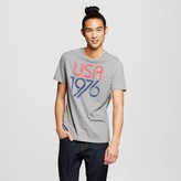 Mossimo Men's Graphic USA T-Shirt Gray