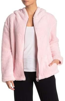 PJ Salvage Plush Faux Leather Heart Pajama Hoodie