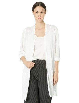 Kasper Women's Petite 3/4 Sleeve Patch Pocket Duster