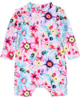 Bebe by Minihaha LUCY LONG SLEEVE ZIP SUNSUIT W/ FRILL (6M - 24M)