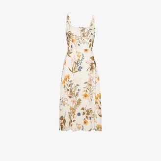 Reformation Camari floral print midi dress