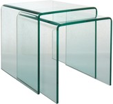 Gala Set of 2 glass nested side tables