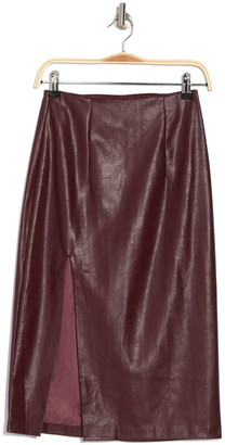 Do & Be Faux Leather Midi Skirt