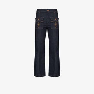 See by Chloe Mid-Rise Flared Jeans