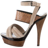 Barbara Bui Crossover Platform Sandals