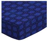 SheetWorld Extra Deep Fitted Portable / Mini Crib Sheet - Navy & Royal Wavy Check - Made In USA