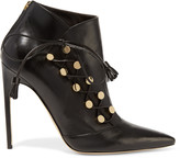 Brian Atwood Blanche leather ankle boots