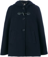Twin-Set hooded cape - women - Wool/Polyamide/Polyester - 38
