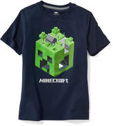 Old Navy Minecraft Creeper Head Tee for Boys