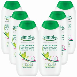 Simple Kind To Hair Gentle Gentle Cleansing Shampoo With Vitamin B5, Chamomile Oil & Glycerin 6 X 400Ml