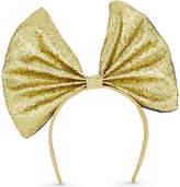 Dress Up Glitter fabric bow hairband