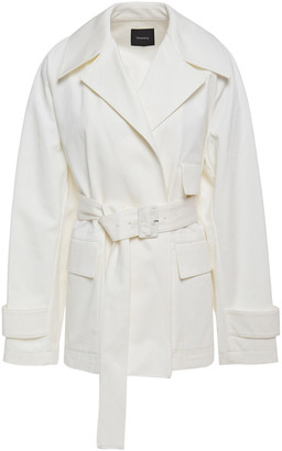 Theory Belted Cotton-gabardine Jacket