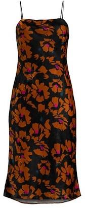 Milly Gabbi Velvet Floral Dress