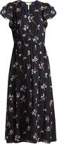 Rebecca Taylor Natalie floral-print crinkled-silk dress