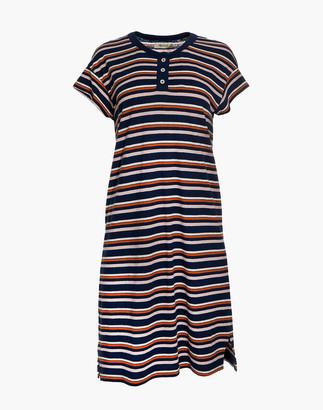 Madewell Striped Henley Tee Dress