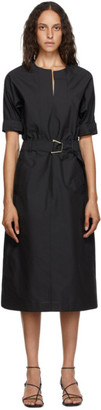 3.1 Phillip Lim Black Poplin Dolman Dress