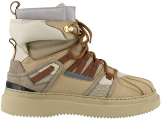 Buscemi Duck Lace-Up Boots