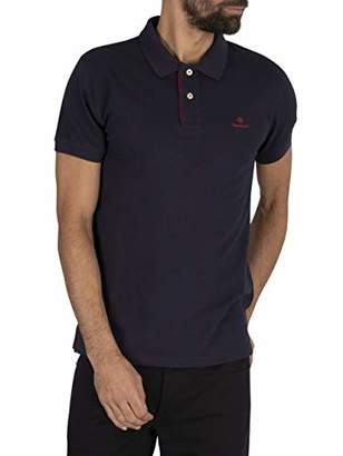 Gant Men's Contrast Collar Pique Ss Rugger Polo Shirt,Xx-Large