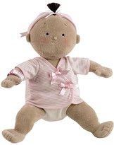 North American Bear Company North American Bear Rosy Cheeks Baby Brunette Stripe Girl