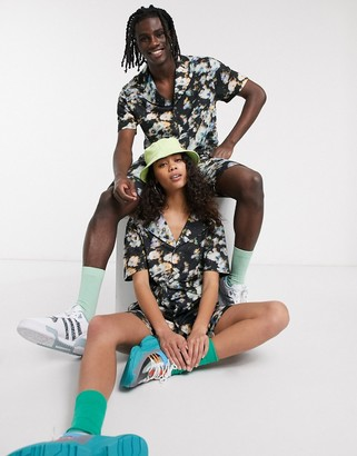 Asos DESIGN x glaad& unisex two-piece jersey shirt in floral print