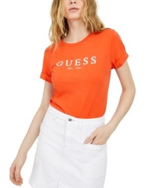 GUESS Eco Cuffed Logo T-Shirt