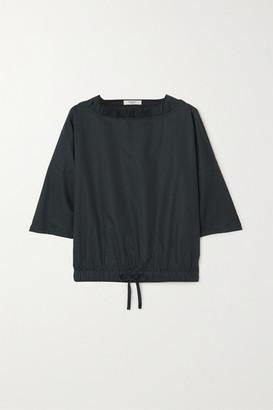 Atlantique Ascoli Ruffled Cotton-poplin Blouse - Black