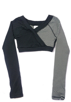 Body Wrappers Dots&Stripes Crop Pullover