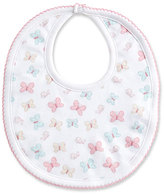 Kissy Kissy Owfully Cute Pima Bib, Pink