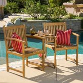 Christopher Knight Home Carolina Deluxe Acacia Wood Adjoining Chairs