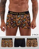Brave Soul 3 pack boxers-Black