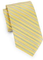 Black Brown 1826 Silk Striped Tie