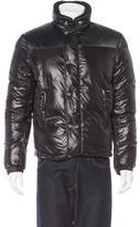 Balenciaga Shearling Trim Puffer Jacket