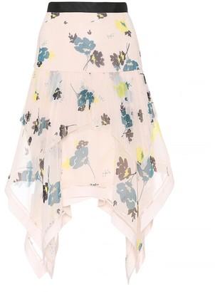 Self-Portrait Floral chiffon skirt