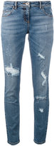 Eleventy distressed jeans